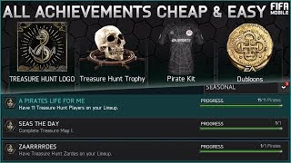 FIFA MOBILE 18 CHEAPEST & EASIEST WAY TO COMPLETE ALL TREASURE HUNT ACHIEVEMENTS - FREE KIT & LOGO