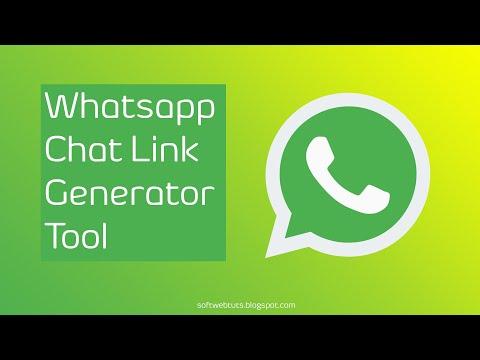 Whatsapp Chat Link Generator Tool Online