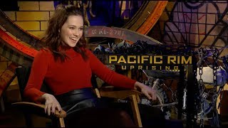 PACIFIC RIM UPRISING Interviews with Cailee Spaeny, Charlie Day and Burn Gorman