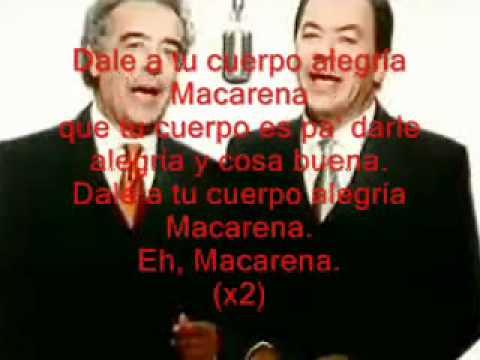 Los Del Rio   La Macarena  Full Spanish Version with Lyrics   YouTube