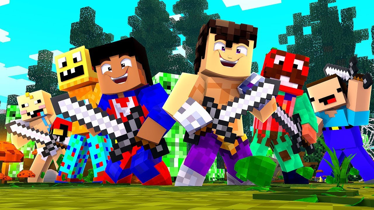 *MINECRAFT CON NOOBS* LOS CAZADORES DE CREEPERS 😂 - YouTube