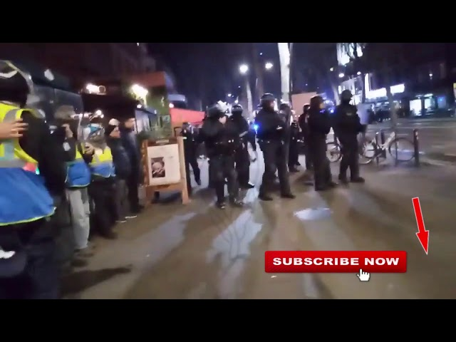 Quick last warning, before last given gassing, Gilets Jaunes  YV Toulouse, 11/01/20, live 3 cut 15