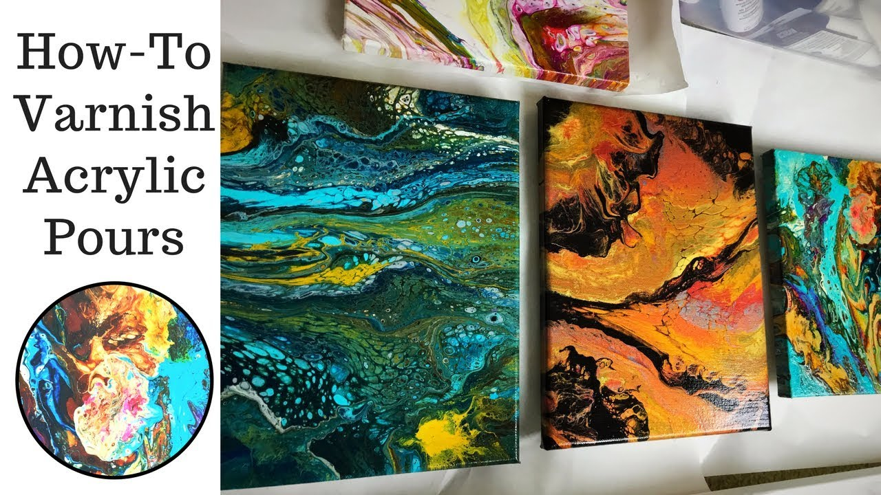 How To Varnish Acrylic Pouring with Minwax Polycrylic