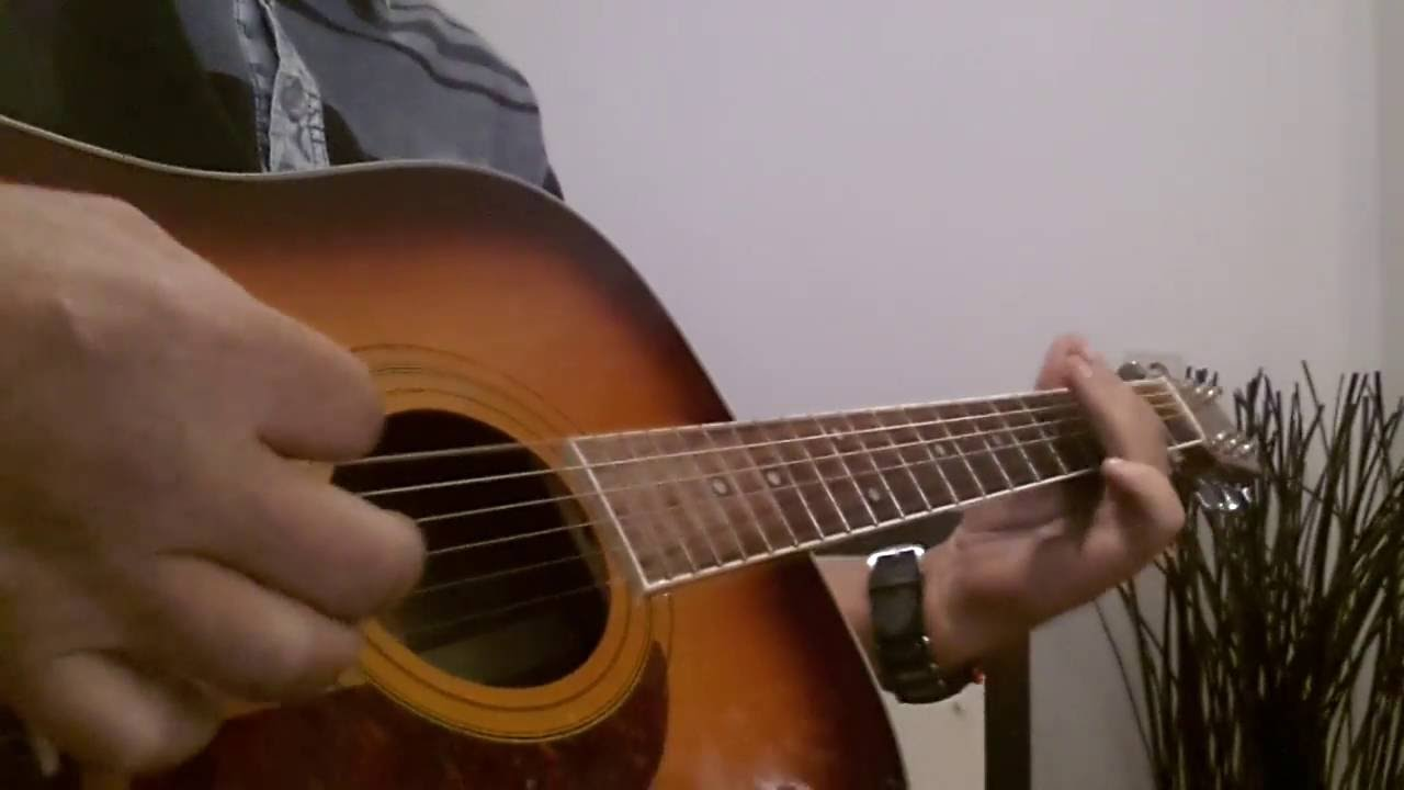 Boogie Woogie In E Chord Bass Part Acoustic Guitar Cover By