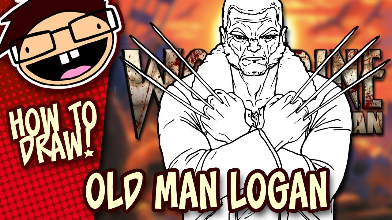 How To Draw Old Man Logan Comic Version Narrated Easy Step By