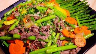 Vlog 03 | Măng Tây Xào Thịt Bò (Stir Fried Beef With Asparagus), Giàu Dinh Dưỡng, Giòn Ngọt Ngon