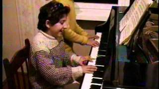 My twin sister Hasmik and I playing Bach (in B minor), 1996.... Angela Martirosyan