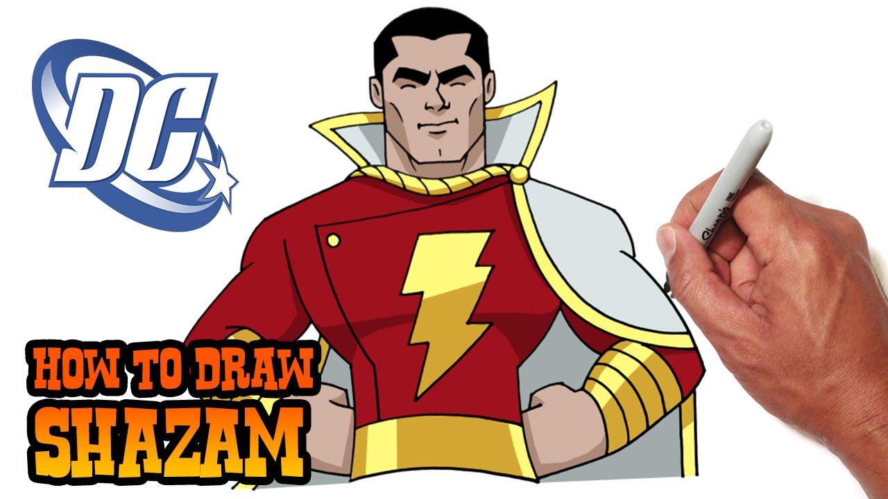 how to draw shazam dc comics youtube