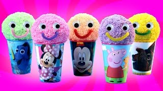 Play Foam Happy Face Surprise Cups with Surprise Toys Ben Elf Disney Wikkeez Filly Pony LPS MLP