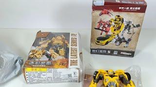 Unboxing mainan Tobot Bumblebee Toys Card Transformers
