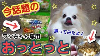 今話題の犬用おっとっとを買ってみました♪ I bought a topic dog treat ...