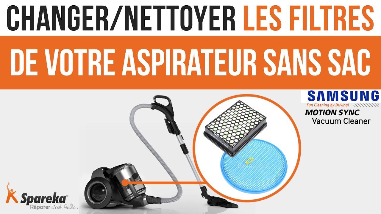 comment changer ou nettoyer les filtres de votre aspirateur sans sac samsung youtube. Black Bedroom Furniture Sets. Home Design Ideas