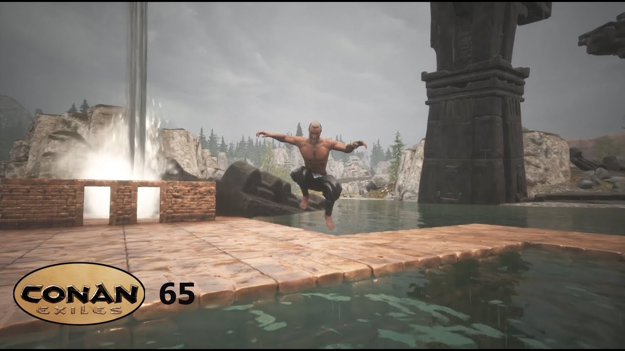 Conan Exiles S02E65 : Showers & swimming pool