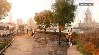 Москва-река: на Краснопресненской набережной у