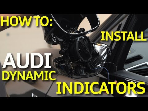 How To: Install Audi Q5 / SQ5 Dynamic Mirror Indicators