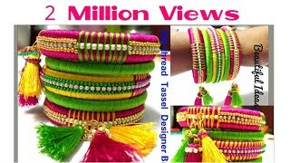 DIY// How to make Silk thread Designer Bangles / Tassel Designer Bangles at Home...