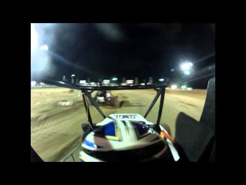 Blane Culp in car from Miami County Speedway. 5-26-12 Non Wing Feature