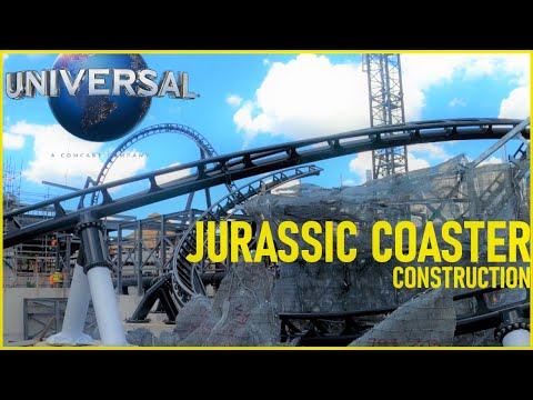 Jurassic Coaster Construction Update 6-22