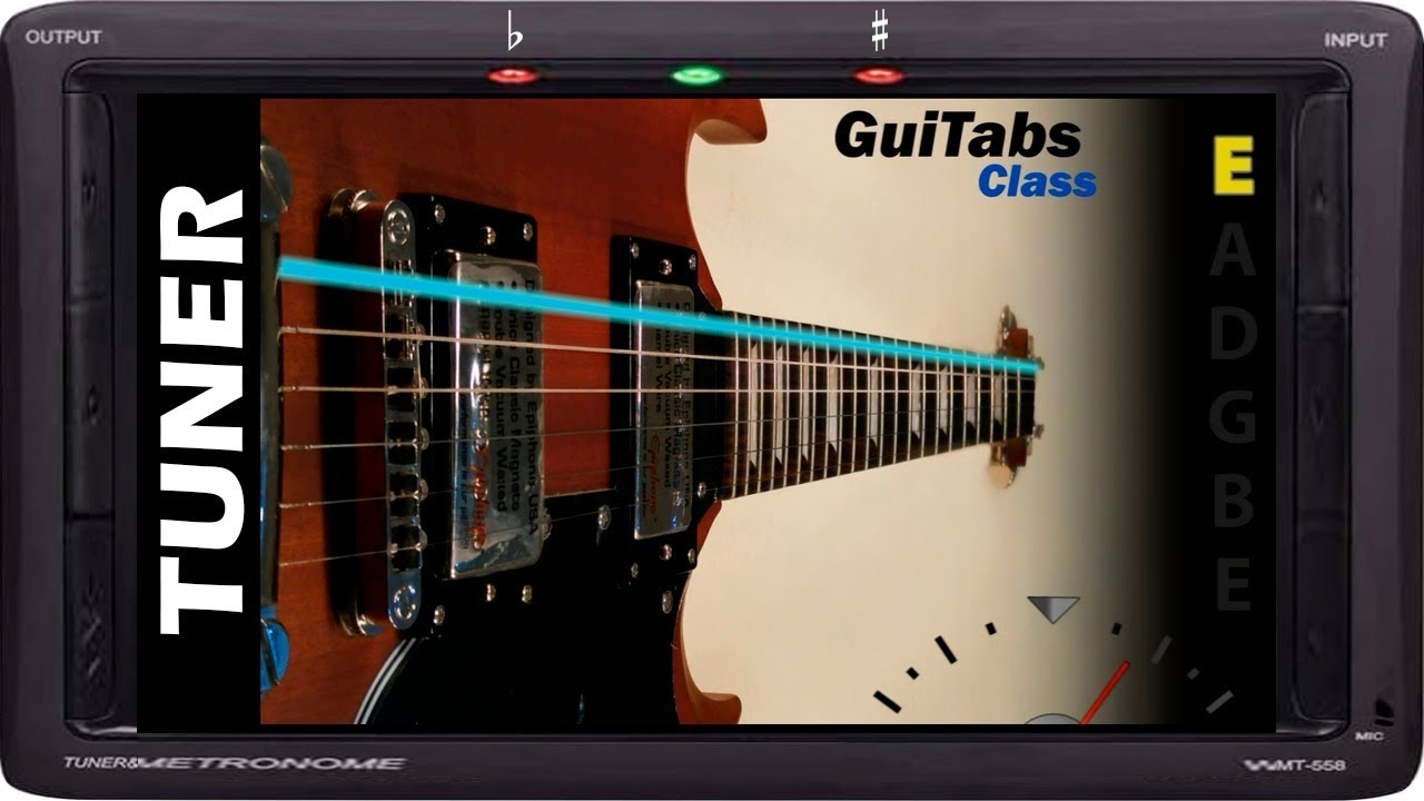 standard electric guitar tuner guitabs tuners youtube. Black Bedroom Furniture Sets. Home Design Ideas
