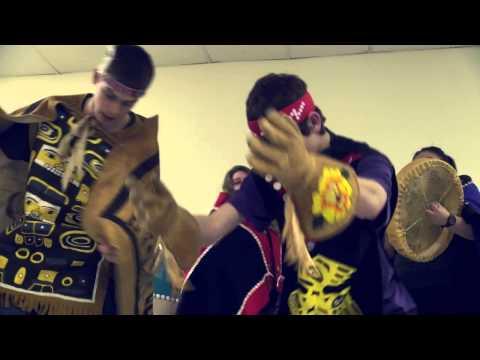 Clips of Tlingit Dancers, Indoors