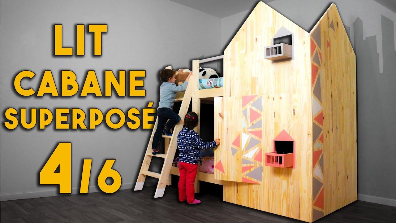 tuto fabriquer un lit cabane superpos partie 4 sur 6 youtube. Black Bedroom Furniture Sets. Home Design Ideas