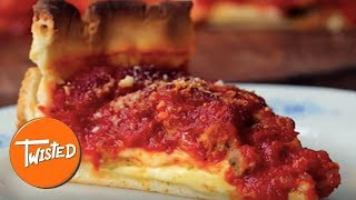 How To Make Stuffed Crust Deep Dish Pizza   Homemade Pizza Recipes   Twisted