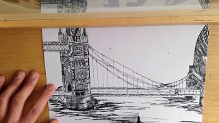Tower bridge speed drawing london (London Bridge)central london