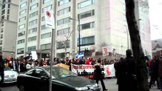 Student Protest Against Tuition Hike - March 13th 2012 - Downtown