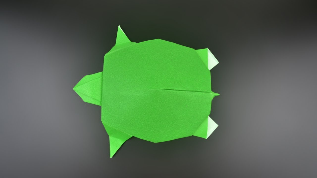 Origami Turtle Traditional Instructions In English Br Youtube