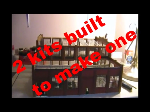 building 2 walther cornerstone rail shop kits together for your HO scale model train layout