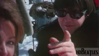 The Beatles at filming for a movie Help! [Obertauern, Austria]
