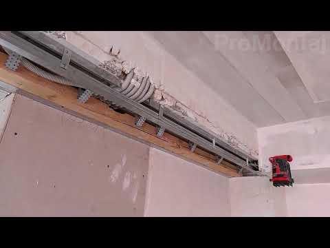 гипсокартонный короб для раздвижной двери. Усиление из бруса 5х12 см.