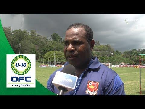 2018 OFC U16 CHAMPIONSHIP - Papua New Guinea v Vanuatu - Post Match Interview