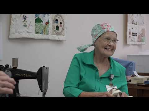 Sewing Chemo Caps While Battling Cancer