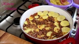 Tencerede kolay kıymalı patates yemeği nasıl yapılır - Kıymalı patates oturma tarifi-Yemek tarifleri