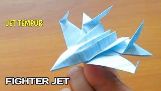 Origami, Cara Buat Pesawat Jet Tempur Dari Kertas ( Paper Plane )