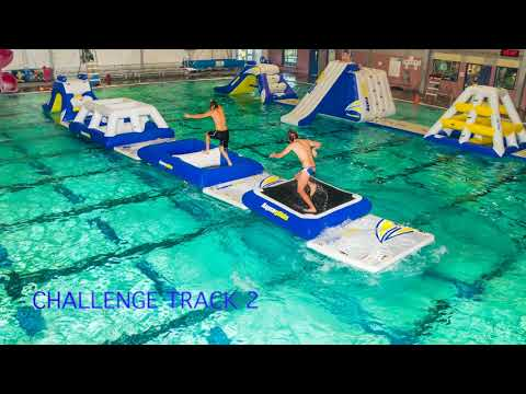 Obstacle course rental - Aquaglide Commercial Pool | Challenge Track 2