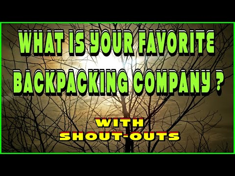 what is your favorite backpacking company