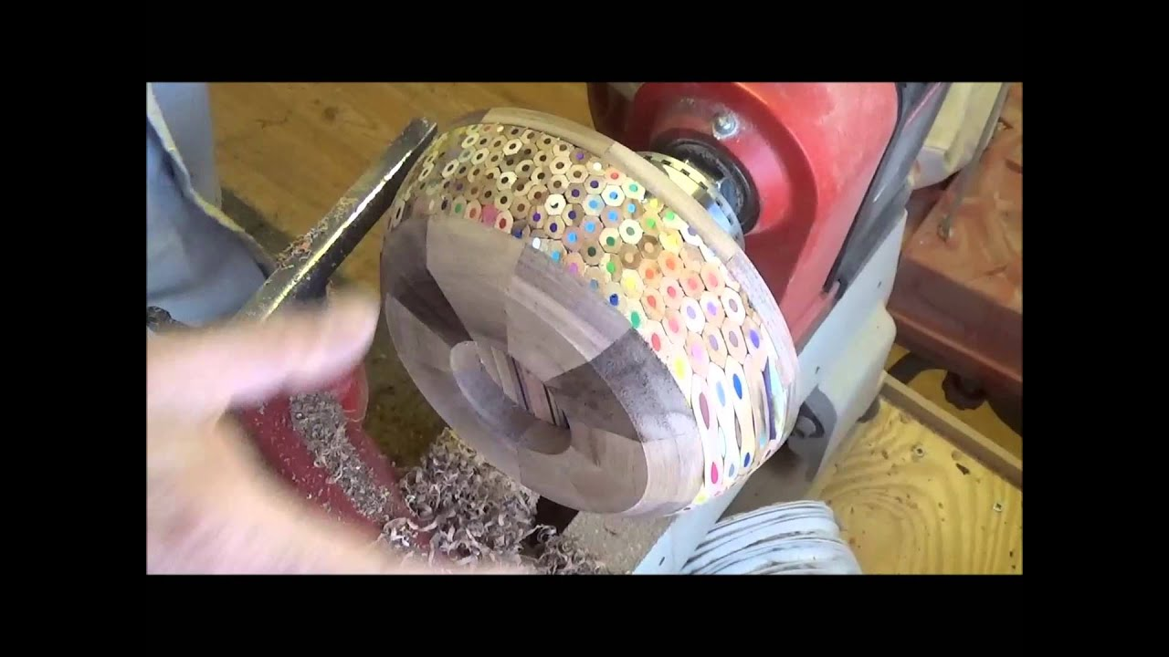 Woodturning at 54a..#42 A pencil Bowl - YouTube
