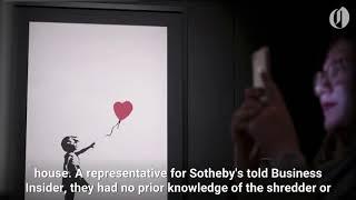 Banksy painting shredded following final bid at auction