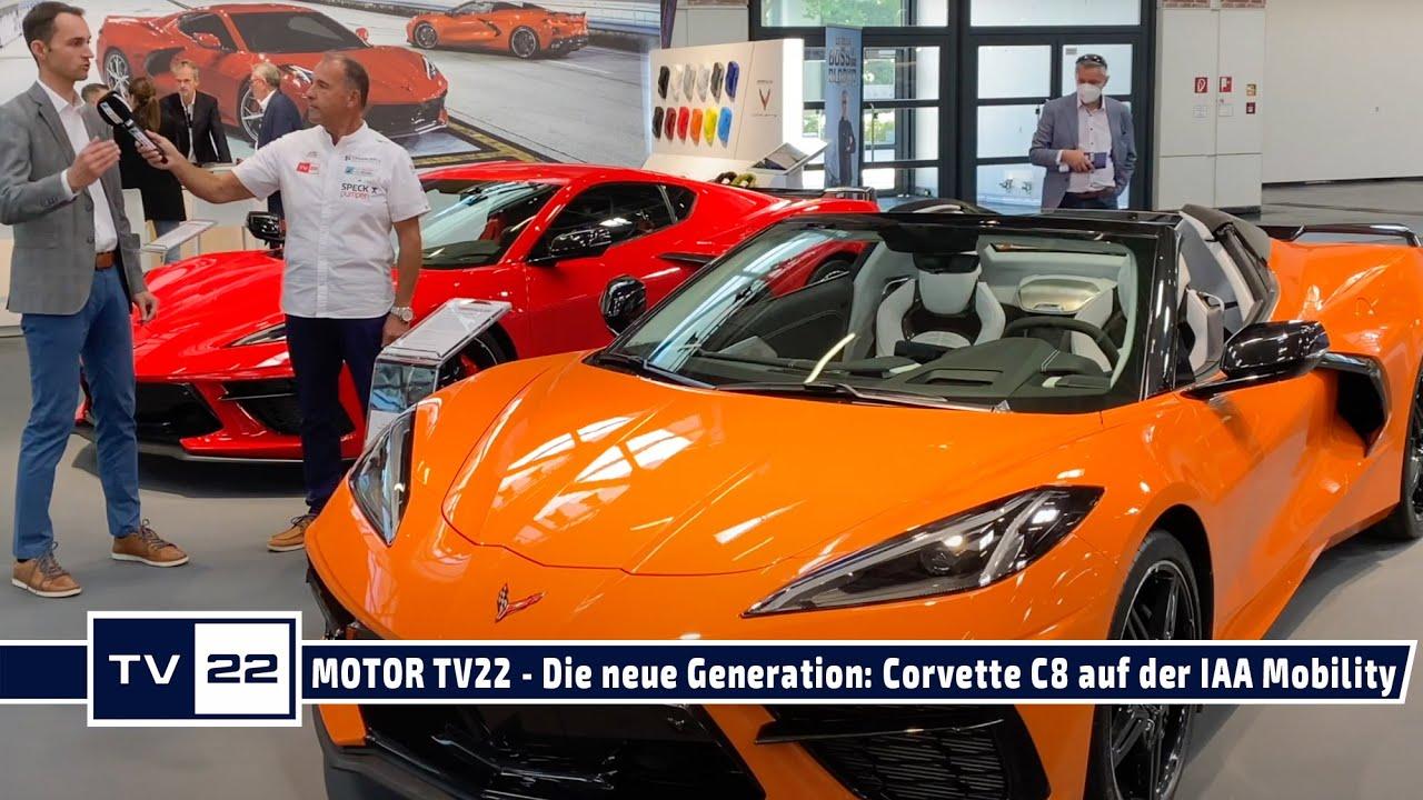 Corvette C8 Stingray - Die neue Generation exklusiv auf der IAA Mobility in München - MOTOR TV22