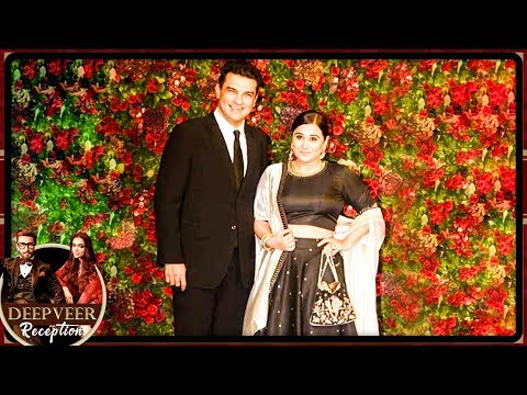 Vidya Balan Comes With SRK At Deepika Ranveer Mumbai Reception Party 2018