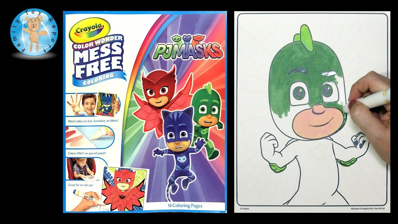 Crayola Color Wonder Coloring Book Pj Masks Gecko Family Toy