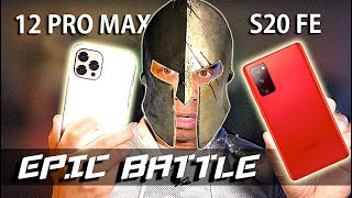Samsung Galaxy S20 FE vs Apple iPhone 12 Pro Max | EPIC Battle