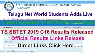 Sbtet Results 2019