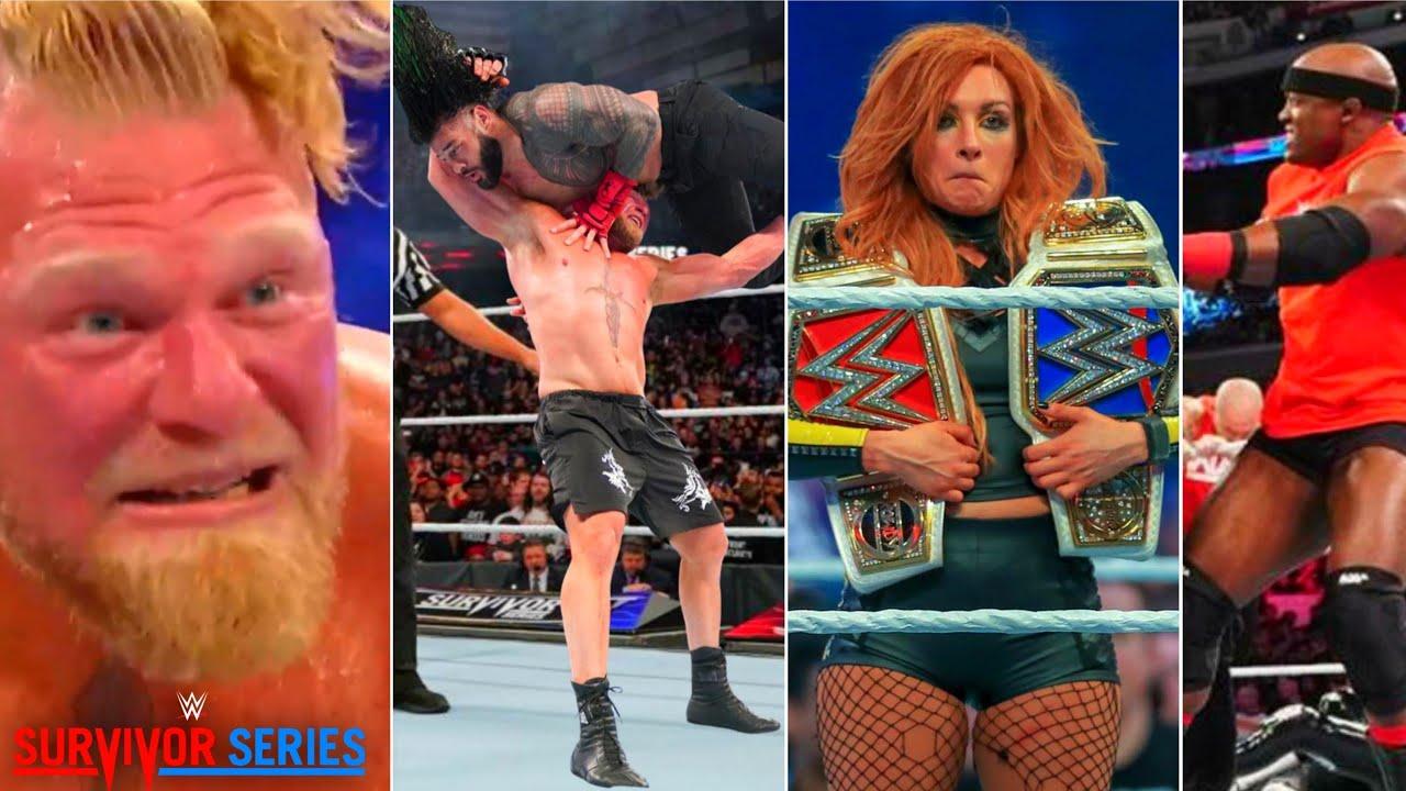 Brock Returns & Attacks Roman after Suspension!! Becky Wins, WWE Survivor Series 2021 Highlights