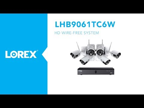1080P HD Wire Free security camera system with 6 night vision cameras