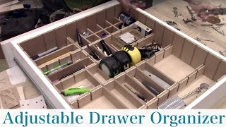 Adjustable Drawer Storage Organizer