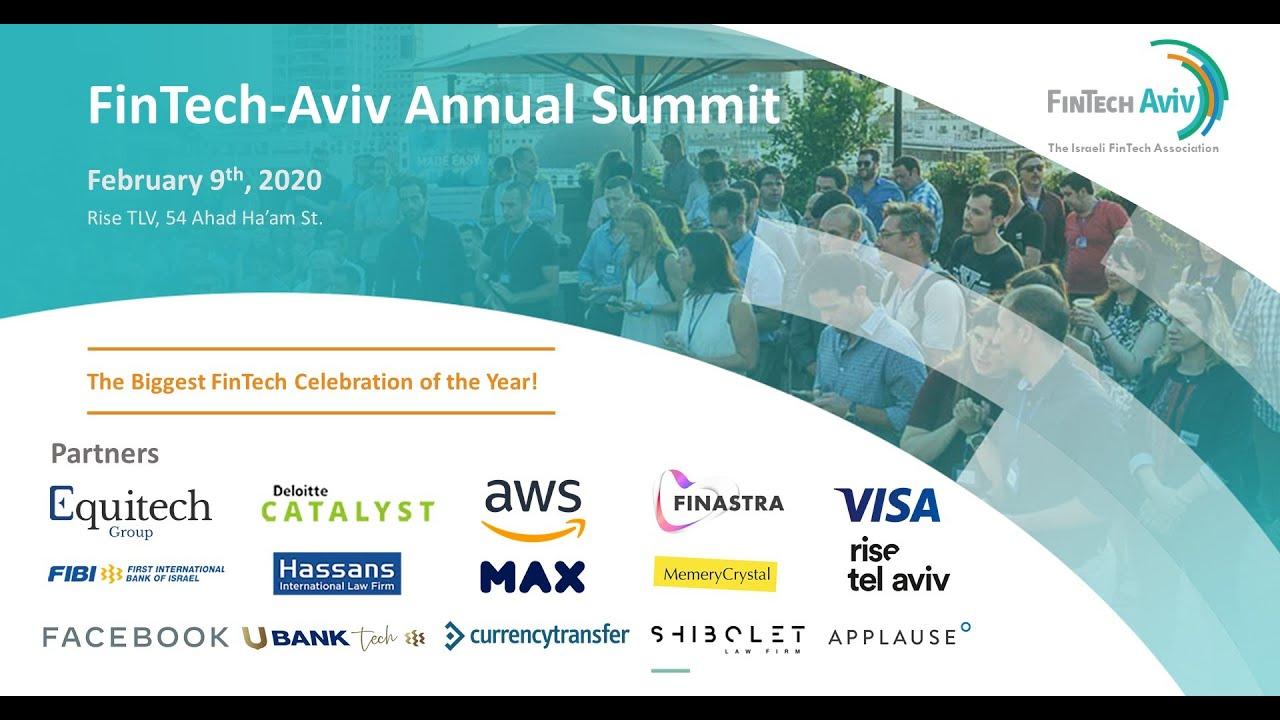 FinTech-Aviv Annual Summit 2020 - A FinTech Peek