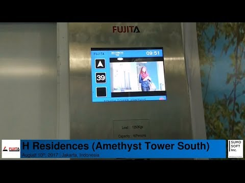 Brand New Fujita Traction Lifts/Elevators at H Residences, Jakarta (Amethyst South)